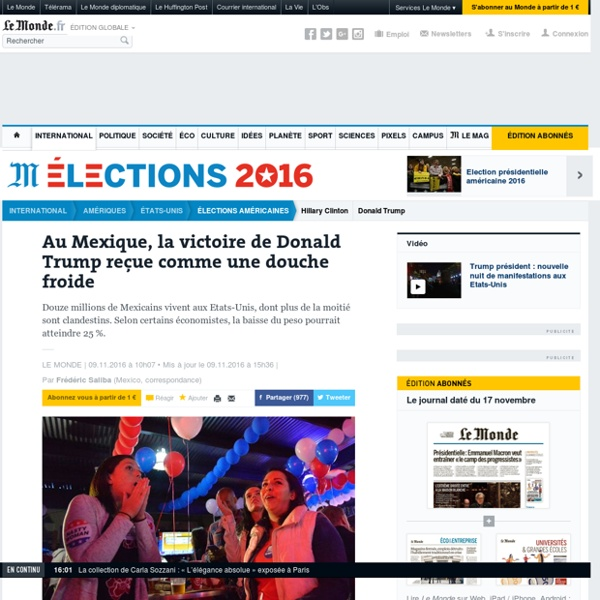 Au Mexique, la victoire de Donald Trump reçue comme une douche froide