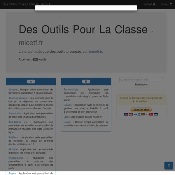 Des Outils Pour La Classe
