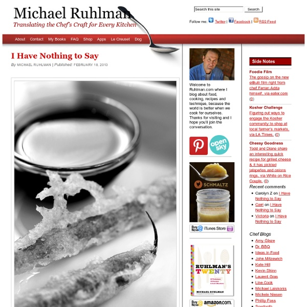 Michael Ruhlman - Translating the chef's craft for every kitchen