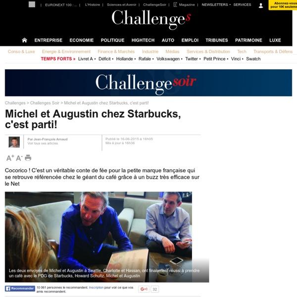 Michel et Augustin chez Starbucks, c'est parti! - 16 juin 2015