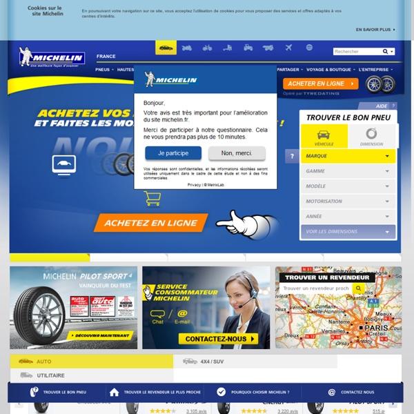 Trouvez vos pneus auto en 1 minute grâce au widget pneu MICHELIN