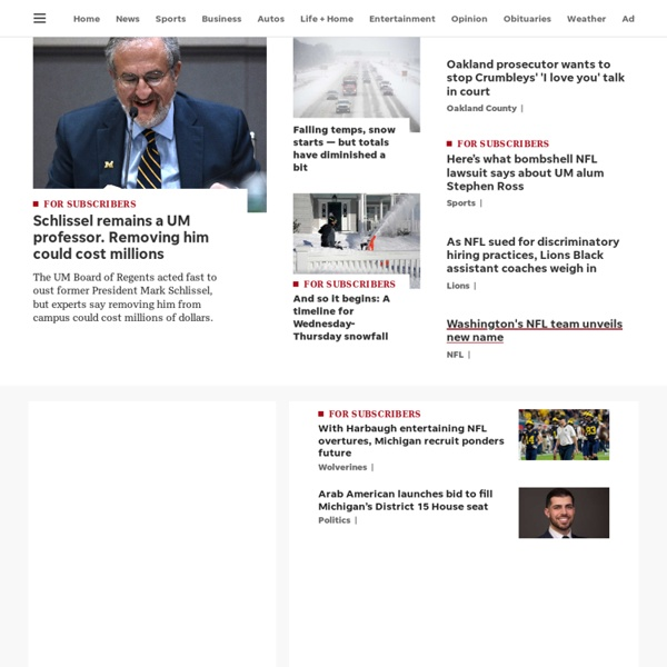 News, sports, features, blogs, photos and forums from Detroit and Michigan