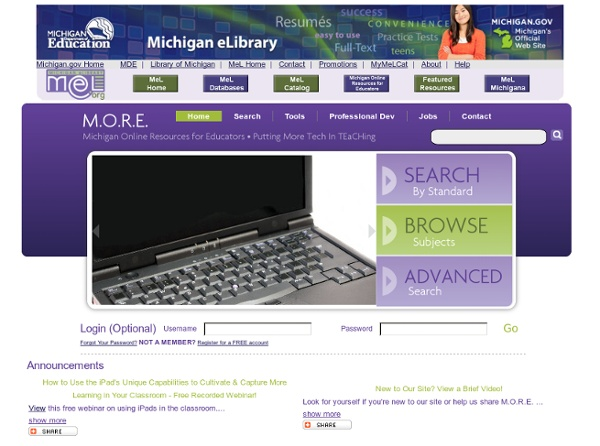 Michigan Online Resources for Educators - Home