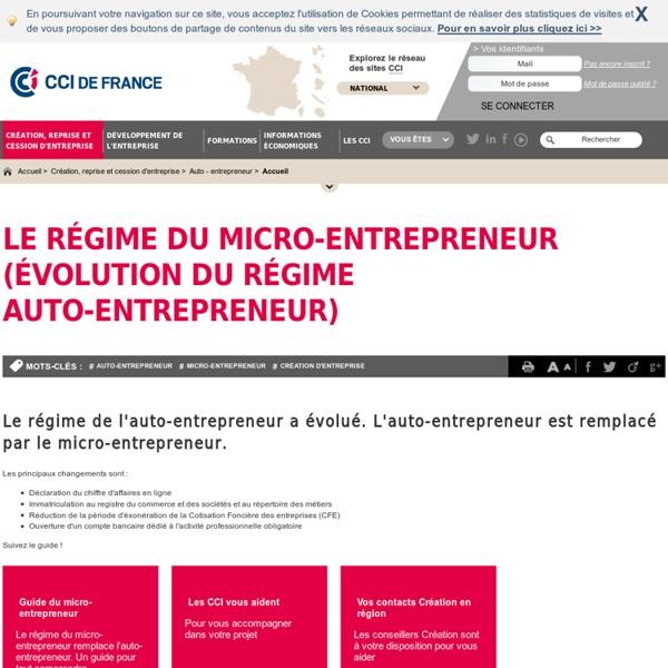 Auto-entrepreneur, auto entrepreneur - Portail des CCI