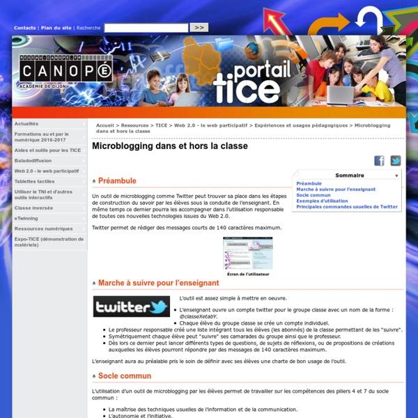 Microblogging dans et hors la classe