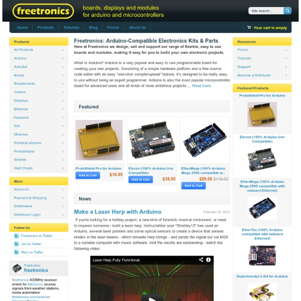 Arduino Parts & Kits Online Melbourne, Buy Microcontroller Boards, Arduino Electronic Components - Welcome