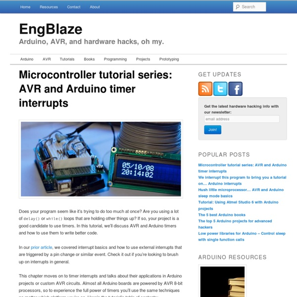 Microcontroller tutorial series: AVR and Arduino timer interrupts