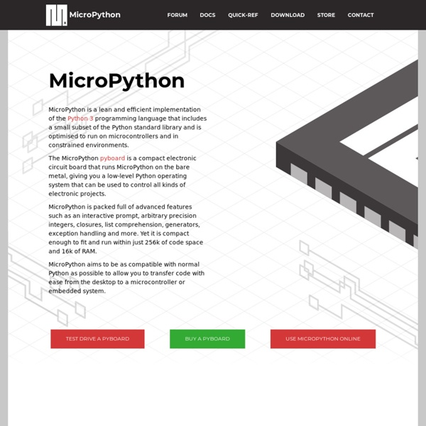 Micro Python - Python for microcontrollers | Pearltrees