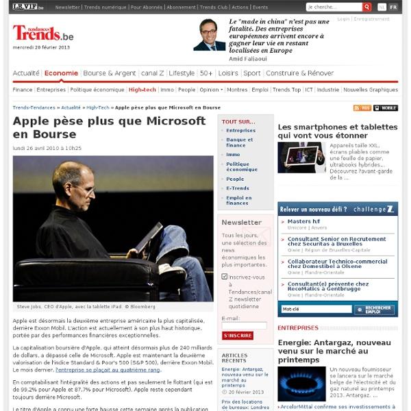Apple pèse plus que Microsoft en Bourse