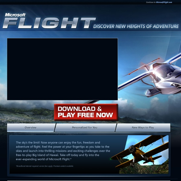 Welcome to Microsoft Flight from the Microsoft Games Studio!