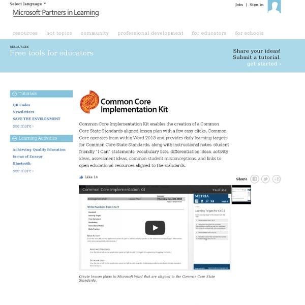 Common Core Implementation Kit