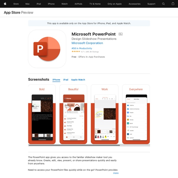 ‎Microsoft PowerPoint on the App Store