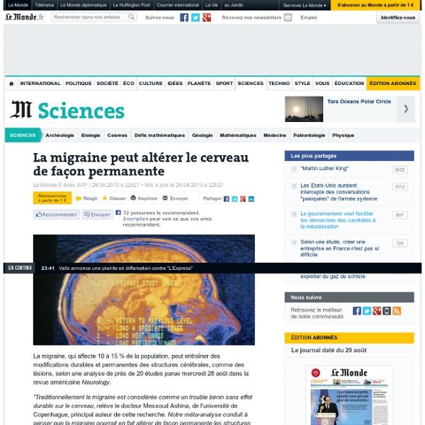 La migraine peut altérer le cerveau de façon permanente