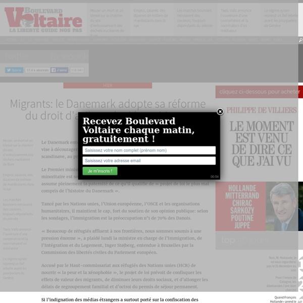 Migrants: le Danemark adopte sa réforme du droit d'asile malgré les critiques