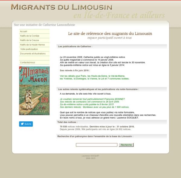 Migrants Limousins