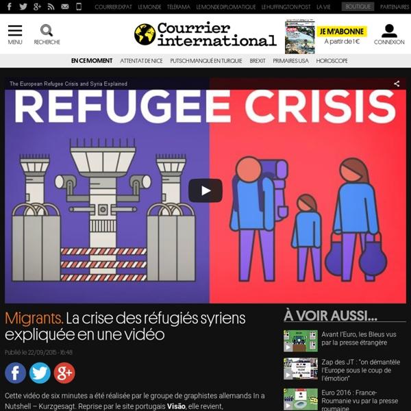 Migrants. La crise des réfugiés syriens expliquée en une vidéo