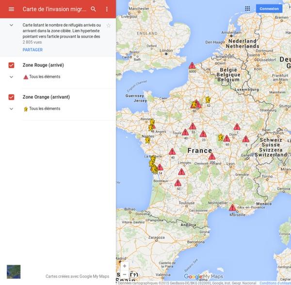Quikoo2013 a ajouté : Carte de l'invasion migratoire - Résistance Républicaine