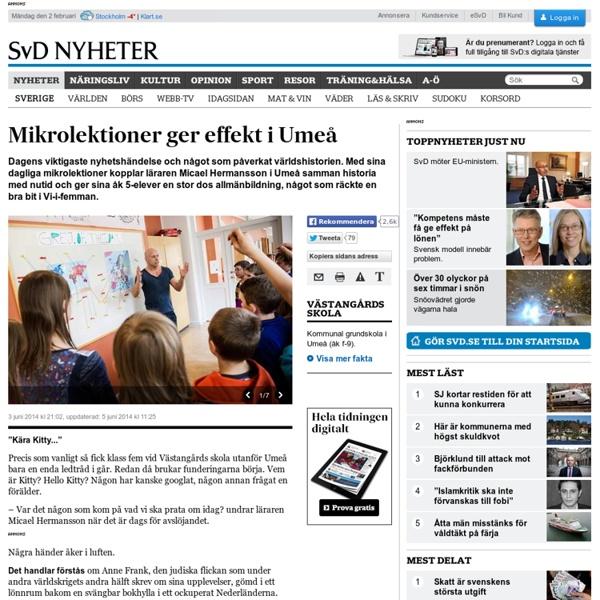 Mikrolektioner ger effekt i Umeå