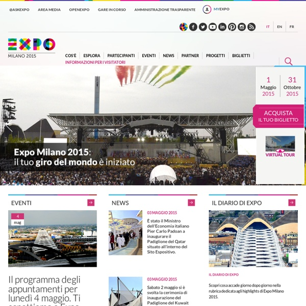Expo Milano 2015 - Nutrire il Pianeta, Energia per la Vita