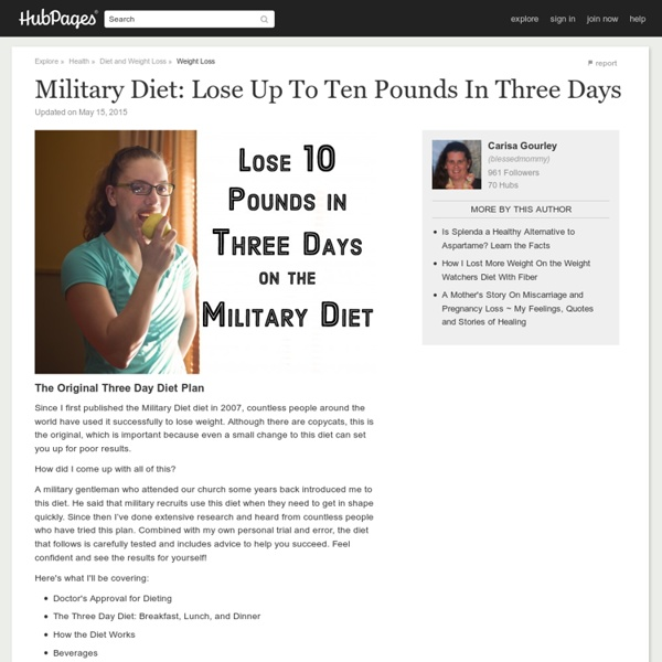 How to Lose Up To 10 Pounds In 3 Days On The 3-Day Diet ...