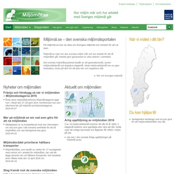 Miljömål.se - den svenska miljömålsportalen - miljömål.se