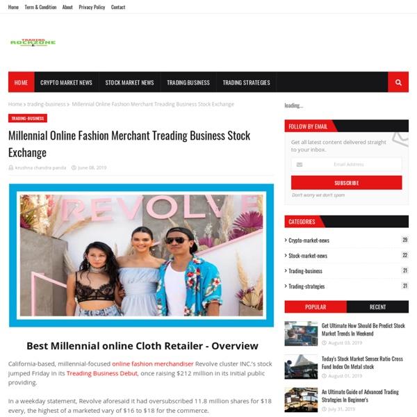 Millennial Online Fashion Merchant Treading Business Stock Exchange