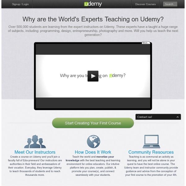 Create a Course on Udemy