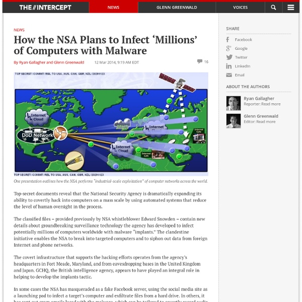 How the NSA Plans to Infect 'Millions' of Computers with Malware