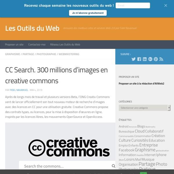 CC Search. 300 millions d'images en creative commons -