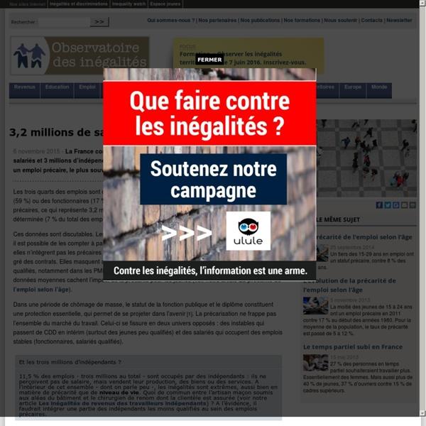 3,2 millions de salariés précaires en France