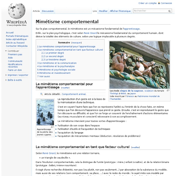 Mimétisme comportemental