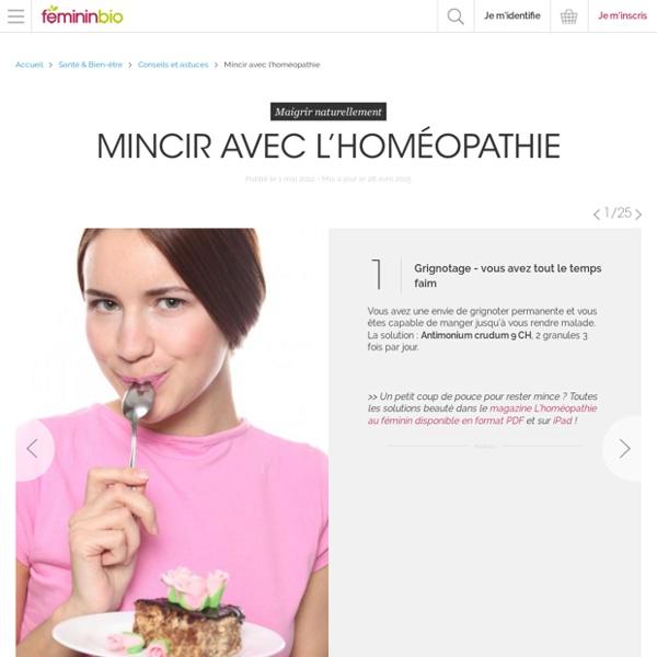 Mincir avec l'homéopathie