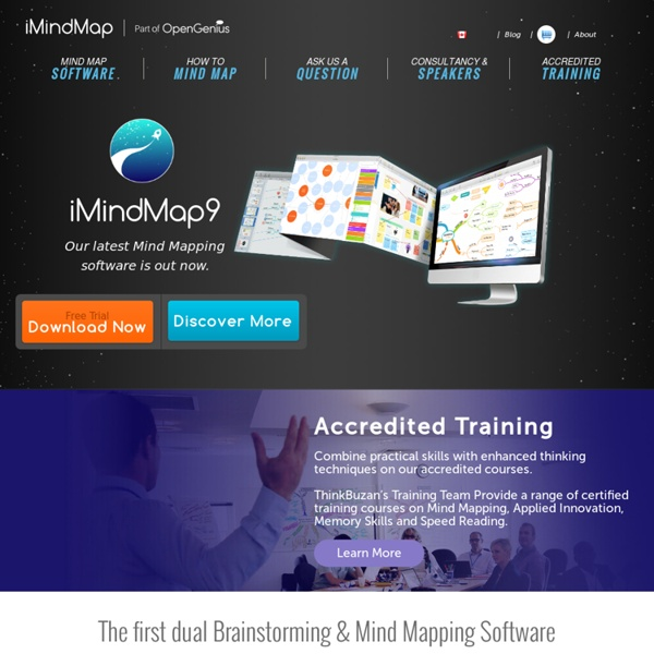 official mind mapping software by tony buzan - Imindmap Software