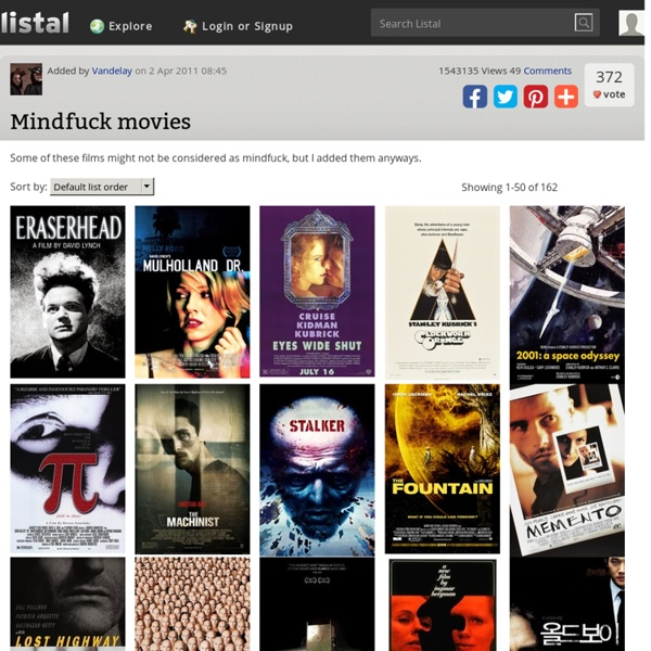 Mindfuck Movies list