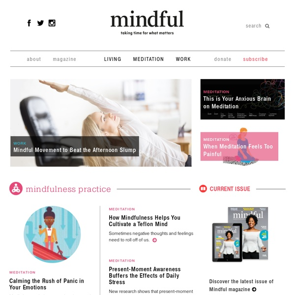 Mindful - taking time for what matters