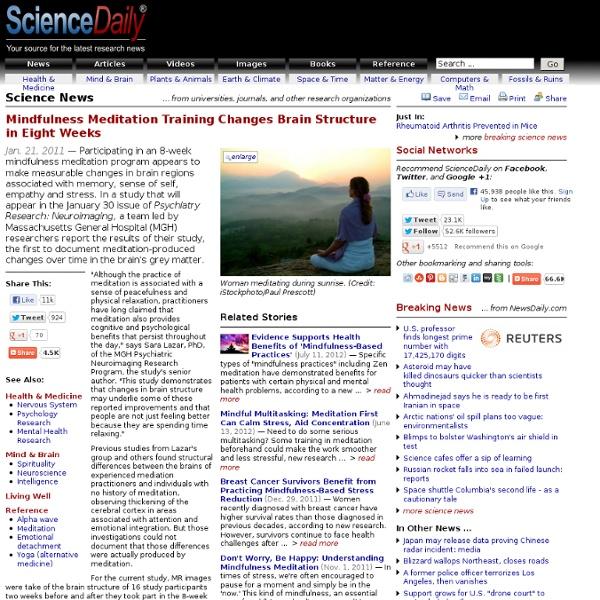 Meditation changes brain structure