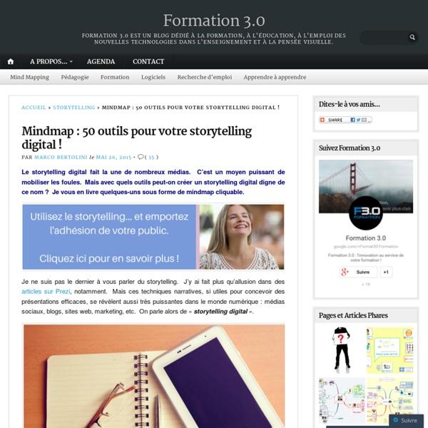 Mindmap : 50 outils pour votre storytelling digital !