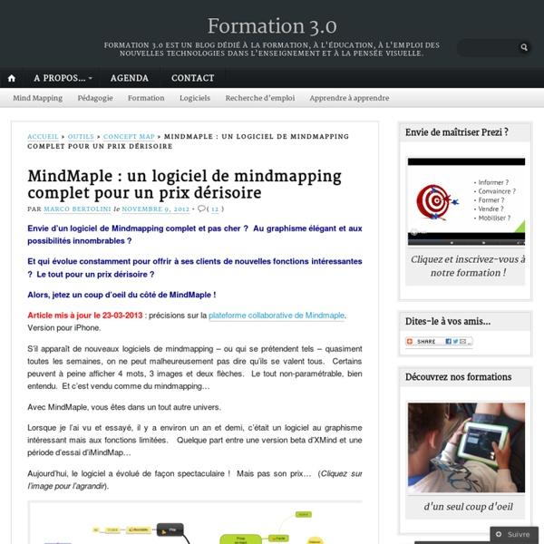 MindMaple : un logiciel de mindmapping complet pour un prix dérisoire