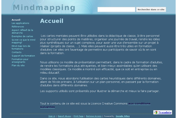 Accueil (Mindmapping )