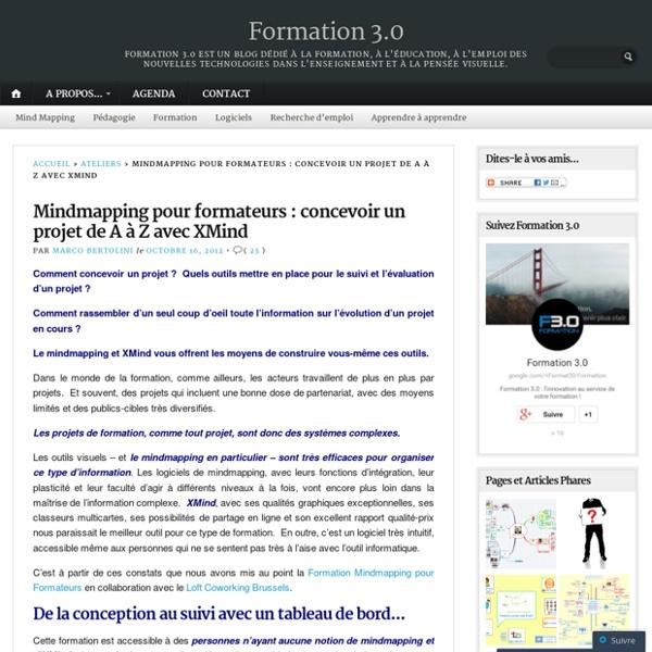 Mindmapping pour formateurs : concevoir un projet de A à Z avec XMind