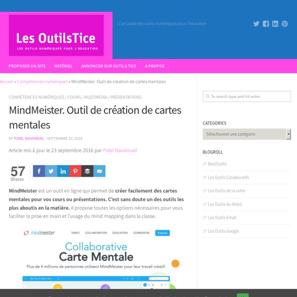 MindMeister. Outil de création de cartes mentales – Les Outils Tice