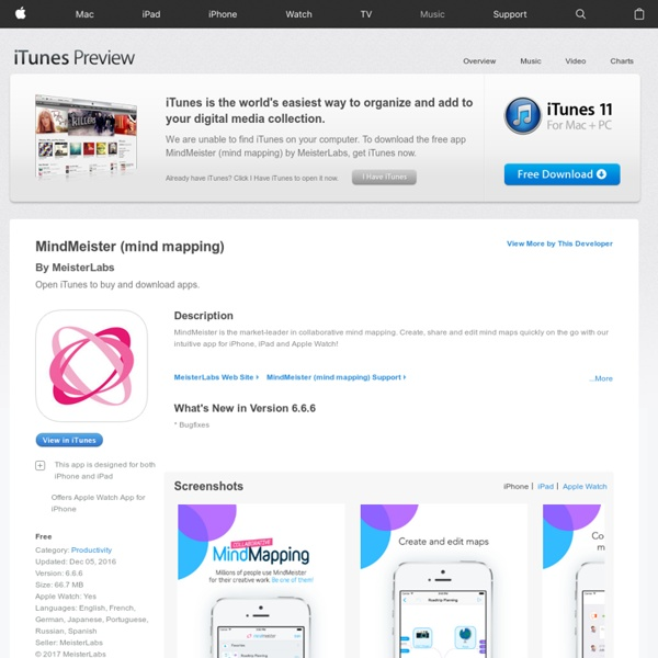 MindMeister (mind mapping) for iPhone 3GS, iPhone 4, iPhone 4S