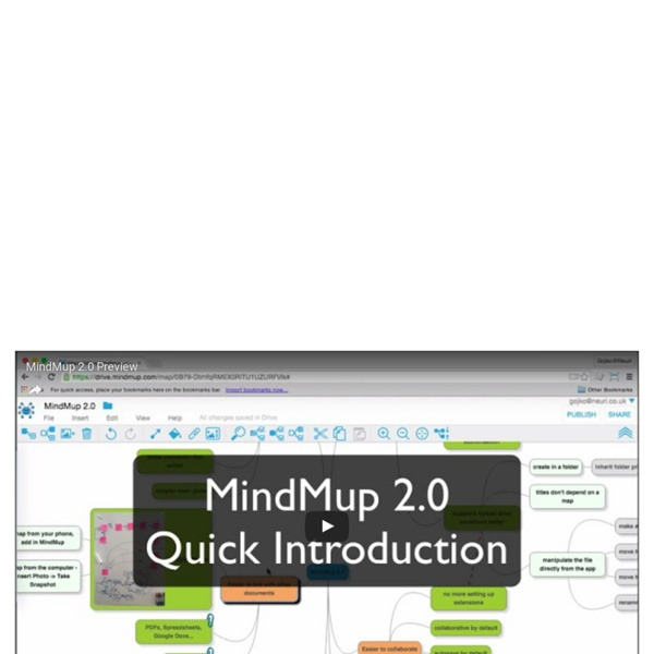 Zero-friction online mind mapping