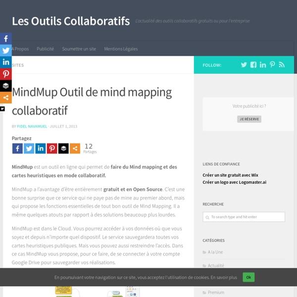 MindMup Outil de mind mapping collaboratif - Les Outils Collaboratifs