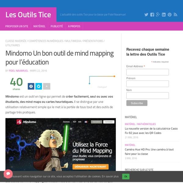 Mindomo Un bon outil de mind mapping pour l'éducation