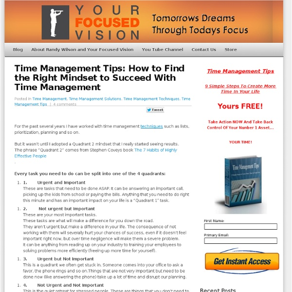 Time Management Tips: How to Find the Right Mindset to Succeed With Time Management