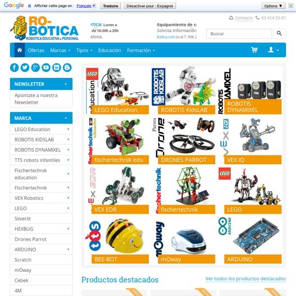 RO-BOTICA Tienda Robótica Educativa y Personal. Robots LEGO Mindstorms education Arduino ROBOTIS VEX Roomba accesorios