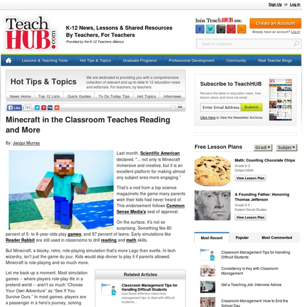 Minecraft in the Classroom Teaches Reading and More