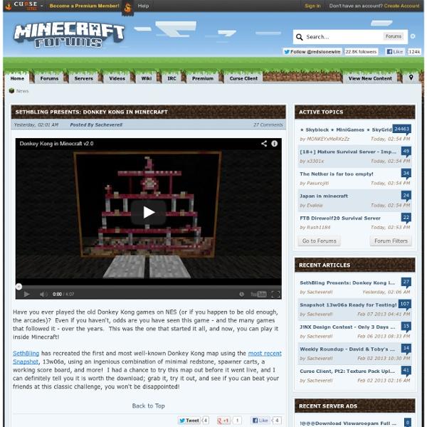 Index page - Minecraft Forums