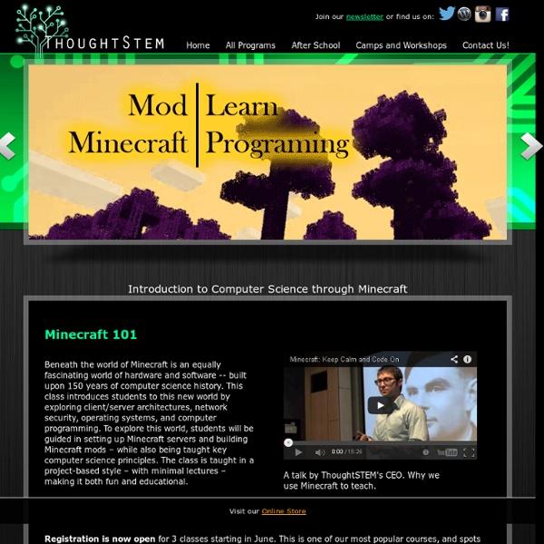 Minecraft Modding Classes - ThoughtSTEM